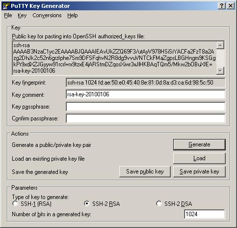 unix create private ssh key